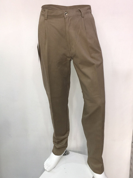 Pantalón De Gabardina Color Beige Hombre