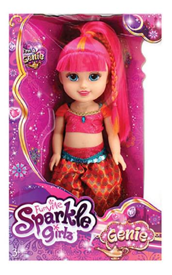 Boneca Sparkle Girlz Gênia 33cm Rosa Dtc 4220