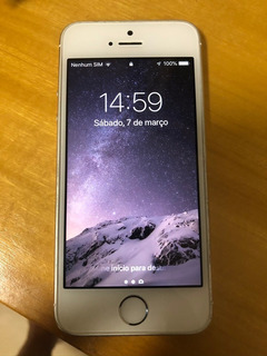 iPhone 5s 32gb Branco/dourado - I O S 12 !!!!