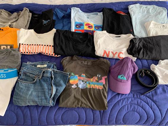 Vendo Lote De Remeras Masculinas Y Jean Y Camisa Manga Larga