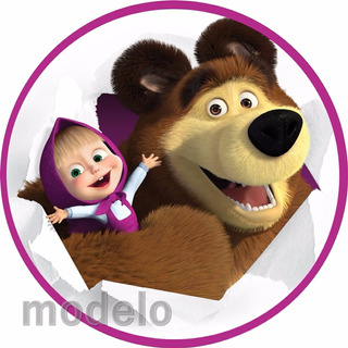 Kit Festa Infantil Personalizados 195 Adesivos Macha Urso 17