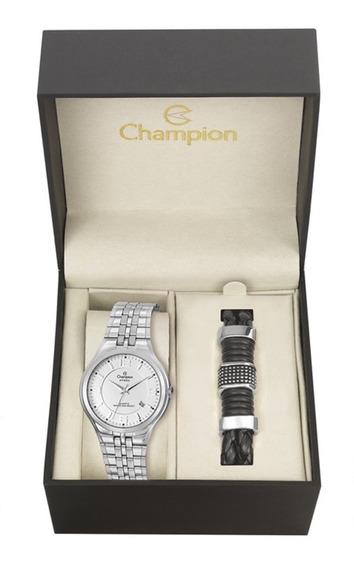 Relógio Champion Masculino Analógico Prateado Ca21393i