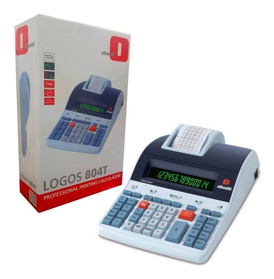 Calculadora Térmica Profissional Olivetti Logos 804t 14 Díg.