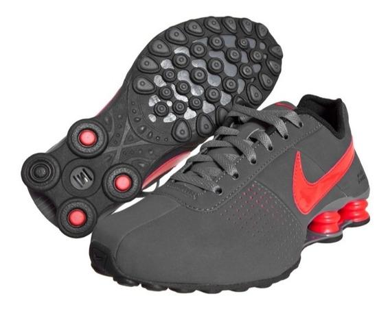 Tênis Nike Shox Deliver Cinza Vermelho Original