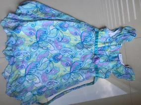 Vestido De Fiesta Jona Michelle Talla 10 Azul Cielo