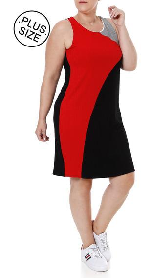 Vestido Feminino Lunender Preto/vermelho