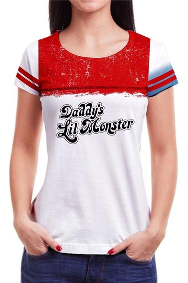 Camiseta Da Arlequina Coringa Blusa Esquadrão Harley Quinn