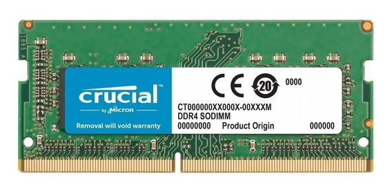 Memoria Sodimm Crucial Ddr4 4gb 2666mhz Notebook 1.2v Cl19