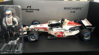 F1 Honda J. Button 1º Vitoria 1/18 Minichamps # Senna