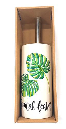 Imagen 1 de 3 de Cepillo Para Wc, Mango De Metal, Con Base De Cerámica, Vario