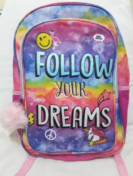Mochila Feminina Follow Your Dreams Importada Dos Eua