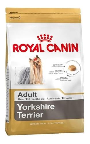 Ração Royal Canin Breed Health Nutrition Yorkshire Terrier para cachorro adulto da raça pequena sabor mix em saco de 7.5kg