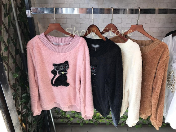 Roupas Femininas Casacos Blusa/frio Pelinho Inverno Lisa 580