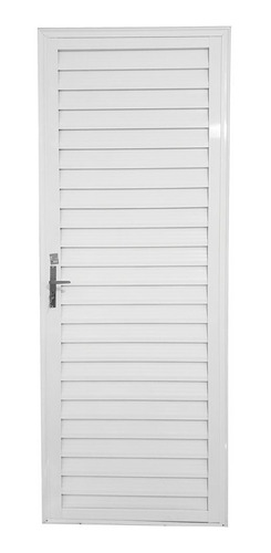 Porta Alumínio 2. 10x0. 80 Veneziana Branca Esquerda Aluvid
