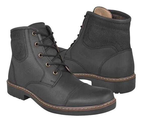 Botines Casuales Para Caballero Merano 47152 Piel Negro