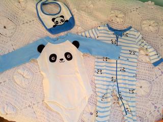 Conjunto 3 Piezas 6 Meses Oso Panda Gymboree