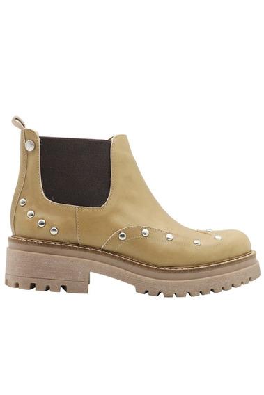 Zapatos Botas Botinetas Botitas Mujer Cuero Vison Leblu 830