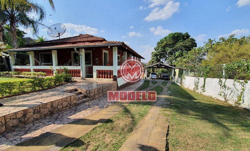 Chácara Com 3 Dormitórios À Venda, 1000 M² Por R$ 490.000,00 - Estância Lago Azul (ártemis) - Piracicaba/sp - Ch0202
