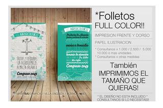 1000 Volantes 10 X 15 Full Color Fte Y Dor !! Mamba Grafica
