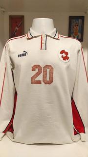 Camisa Futebol Seleção Suíça 1999 Mangas Longas