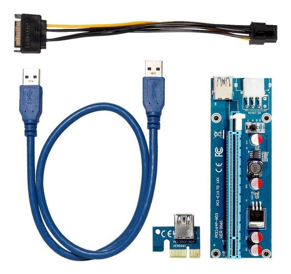 Riser Pci Express Pcie X1 X16 V006c Usb 3.0 Btc Eth Zec Rig