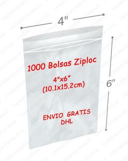1000 Bolsas Ziploc 4x6 (10.1x15.2cm) - Envio Gratis