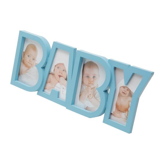 Porta Retratos Em Plástico 4 Fotos Baby