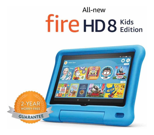 Tablet Amazon Fire Hd 8 2020 Kids Niño Azul Hd 32gb 2gb