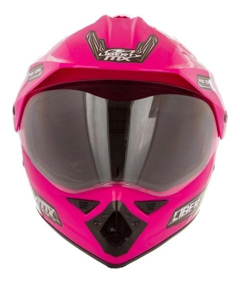Capacete para moto cross Pro Tork Liberty MX Pro Vision rosa M