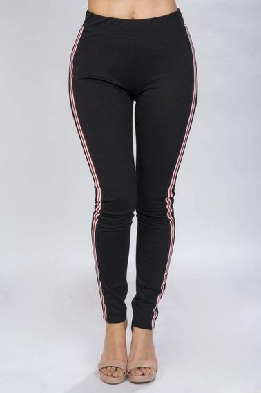 Leggins Mujer Negros Skinny Fit Cinta Moda W81110
