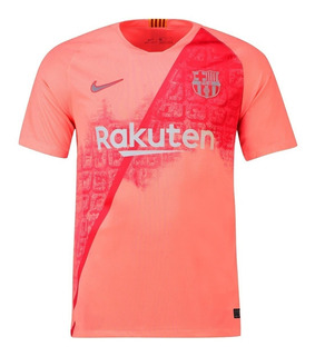 Camiseta Barcelona Terceira Camisa Oficial Rosa 2018 Oficial