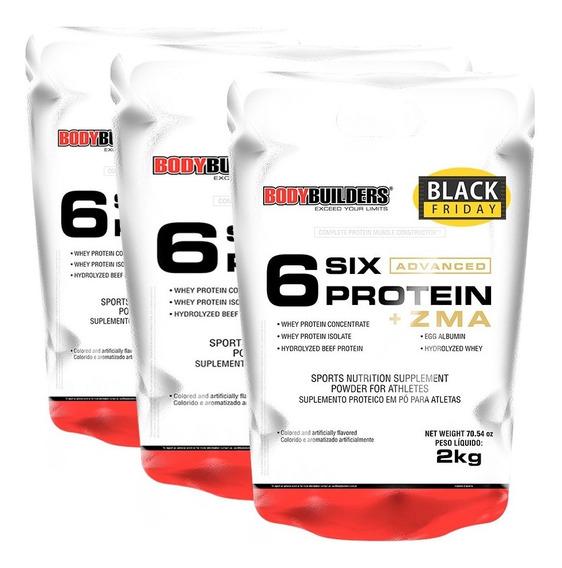 Kit 3 Unid. - 6 Six Protein Advanced + Zma Refil 2kg