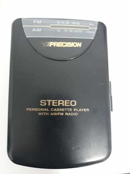 Walkman Precision Pw66 C/ Am / Fm (funciona) + Fone + Pilhas