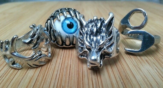 Anéis Olho - Lobo - Ferramenta - Dragao