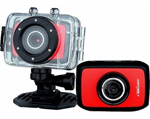 Câmera Digital Para Esportes Bright Sport Cam 5mp Vermelha