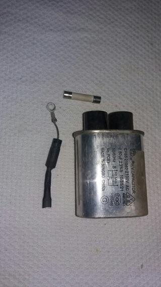 Capacitor +diodo E Fusível Do Microondas Electrolux Mef28
