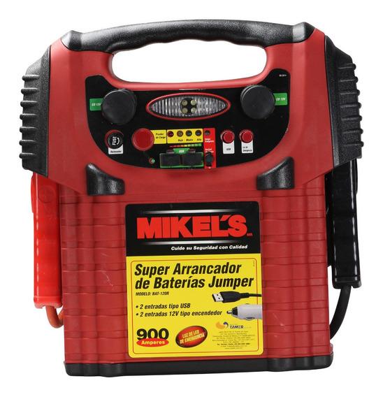Arrancador Jumper Incluye Cargador Bateria Carros Mikels
