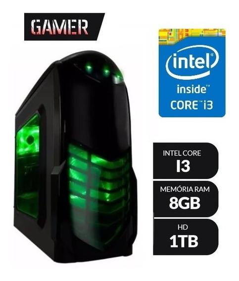 Pc Gamer Core I3-4160 3.60ghz 8gb Hd 1tb Sem Pl Vídeo