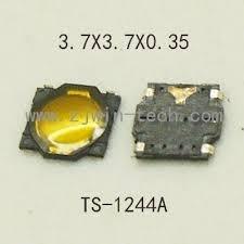 Micro Pulsador Tac 3.5 X 3.5 X 0.35mm X 5 Unidades
