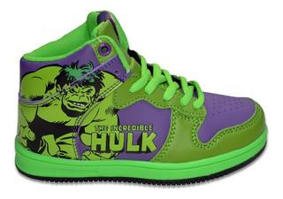 Zapatillas Botita Marvel Hulk Niño Casual Skater Originales