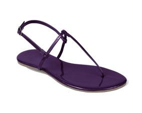 Sandália Flat Mercedita Shoes Verniz Ultra Macia Uva