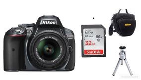 Câmera Nikon D5300 Af-p18-55mm Vr+32gb+bolsa+tripé