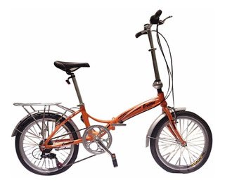 Bicicleta Plegable Fredfor Sport Aluminio Shimano 6 Vel