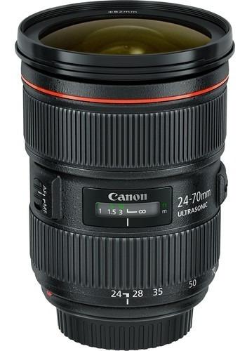 Lente Canon Ef 24-70mm F/2.8l Ii Usm, Lacrada Na Caixa C/ Nf