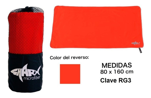 Imagen 1 de 4 de Toalla Microfibra Sharx* 80x160cm Rojo Diablo Envío Gratis