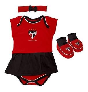 Body Infantil Feminino Torcida Baby - São Paulo - M