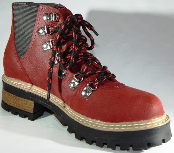 Zapatos Botas Botinetas Borcegos Alpino Cuero Genuino Ar 174