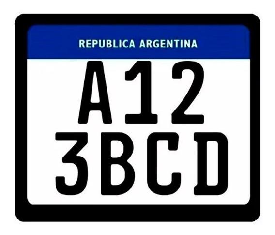 Portapatente Moto Nueva Mercosur - Sti Motos