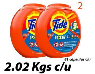 Tide Pods 81 Capsulas 2 Packs De 2.02 Kg ______22 Vendidos