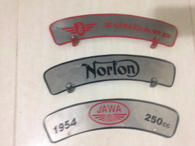 Plaqueta Motos Antigas Norton Royal Bsa Zúndapp Indian